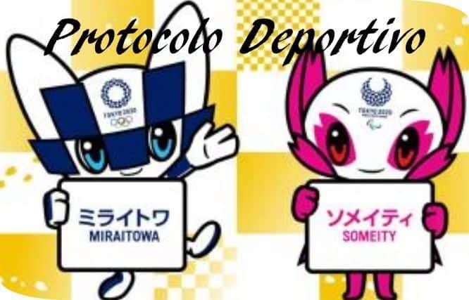 Protocolo deportivo Mascostas Olimpicas 2020 TOKIO